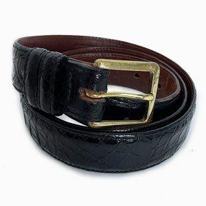 Vintage Coach Genuine Alligator Belt Black Sz 40